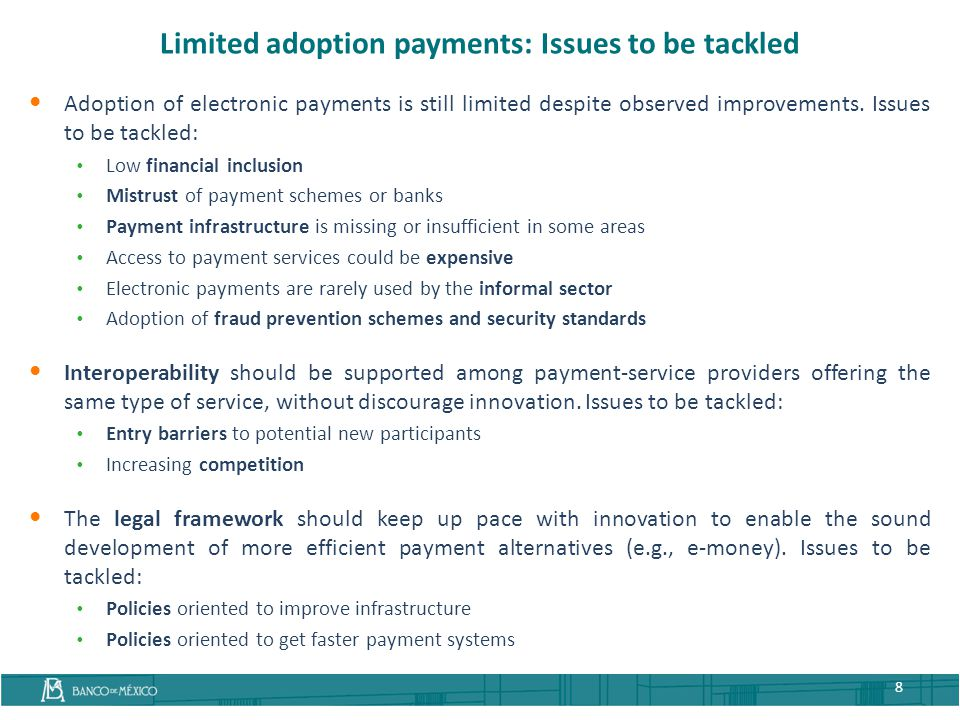 Limited adoption payments: Issues to be tackled