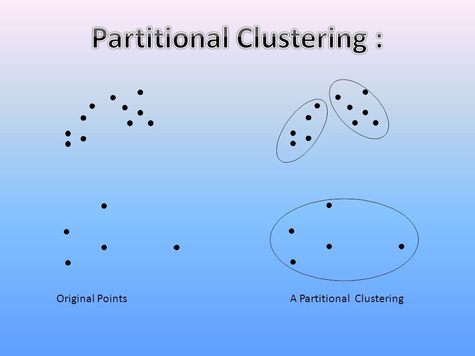 Partitional Clustering :