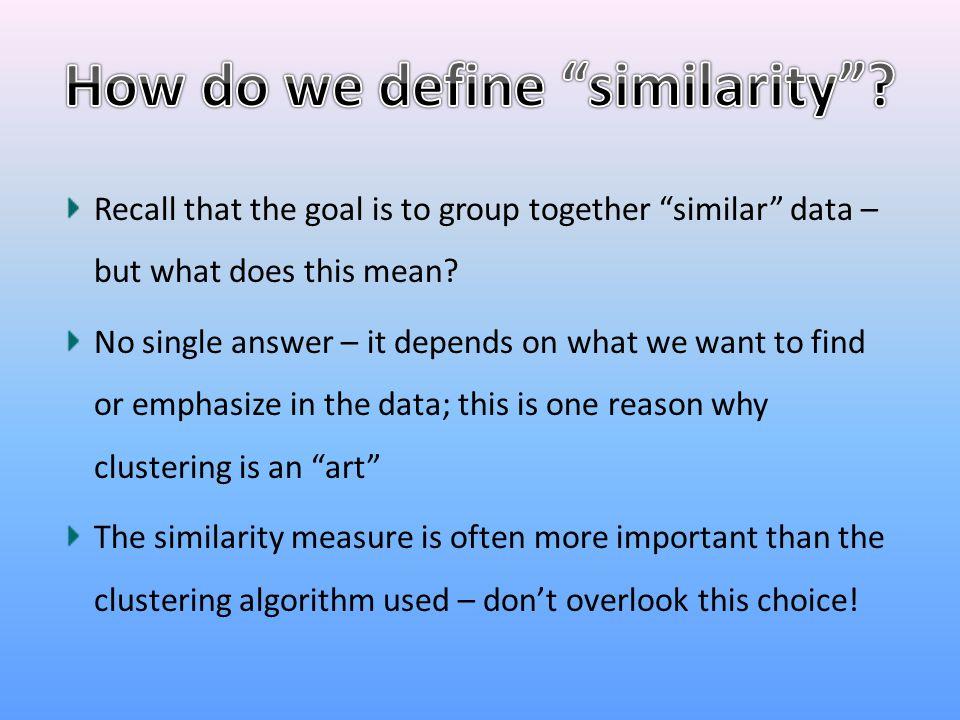 How do we define similarity