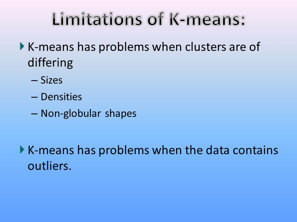 Limitations of K-means: