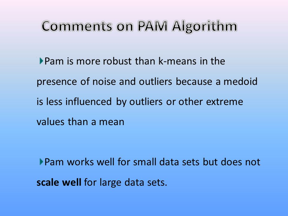 Comments on PAM Algorithm