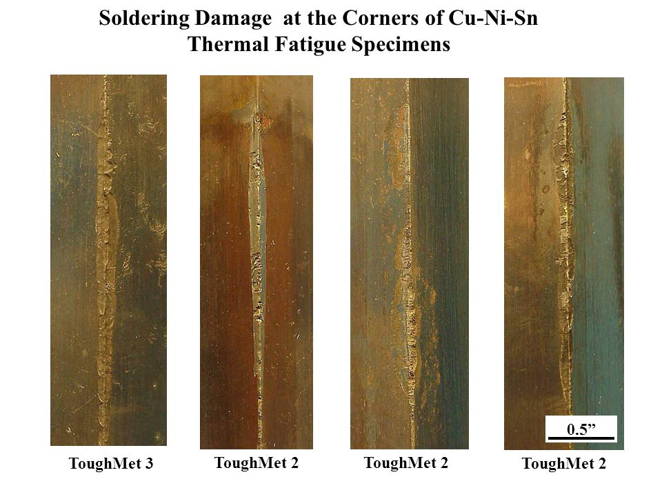 Soldering Damage at the Corners of Cu-Ni-Sn Thermal Fatigue Specimens
