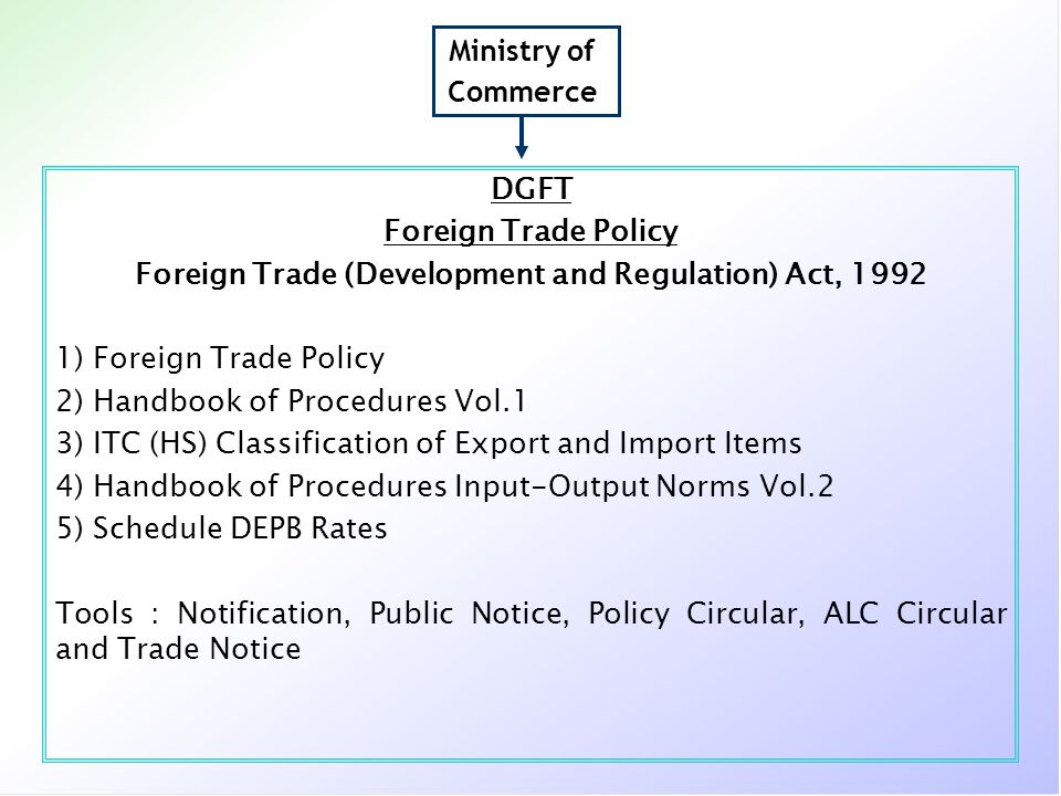 Foreign Trade (Development and Regulation) Act, 1992