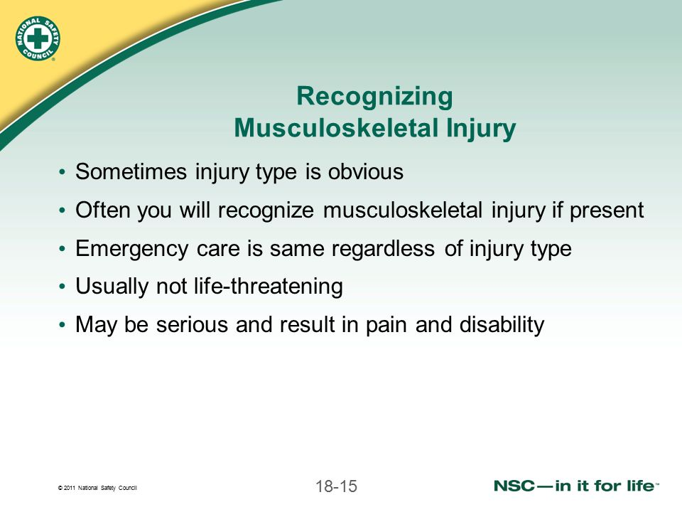 Recognizing Musculoskeletal Injury