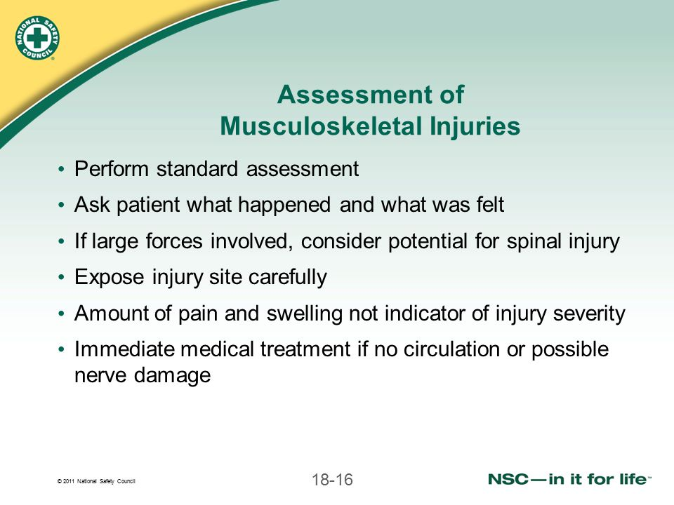 Assessment of Musculoskeletal Injuries