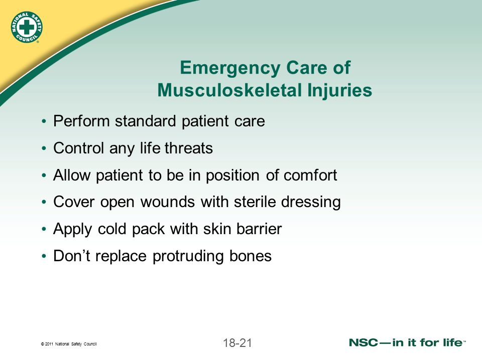 Emergency Care of Musculoskeletal Injuries
