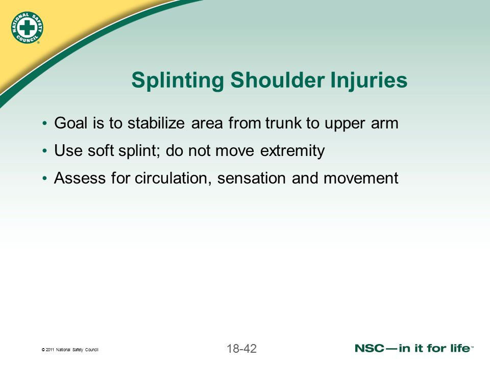 Splinting Shoulder Injuries