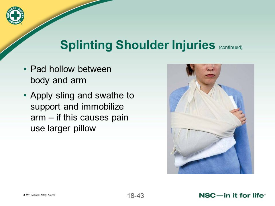 Splinting Shoulder Injuries (continued)