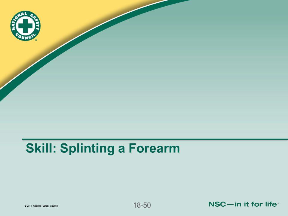 Skill: Splinting a Forearm