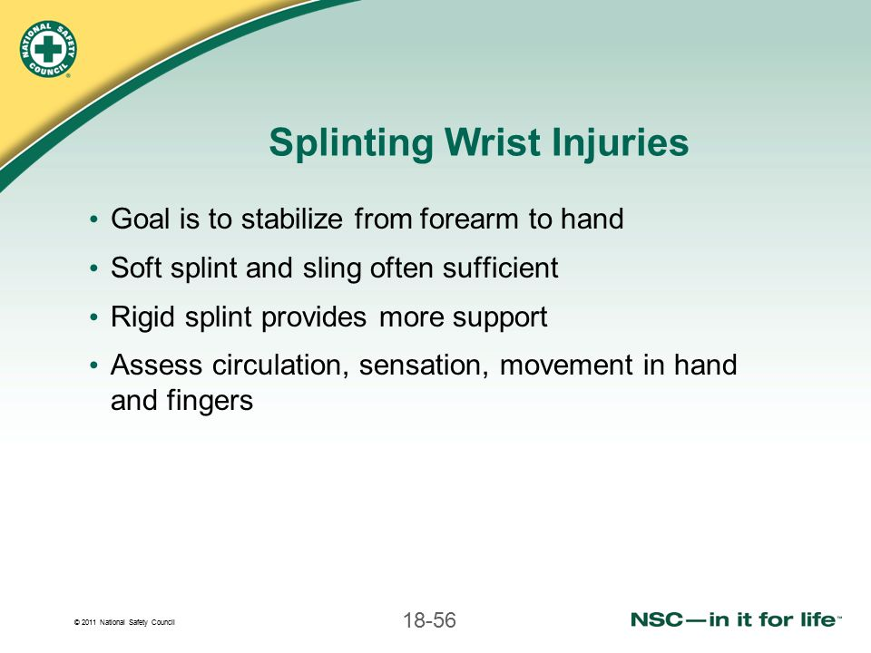 Splinting Wrist Injuries
