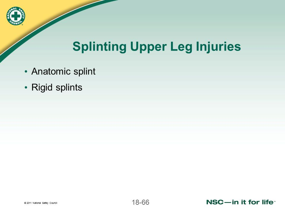 Splinting Upper Leg Injuries