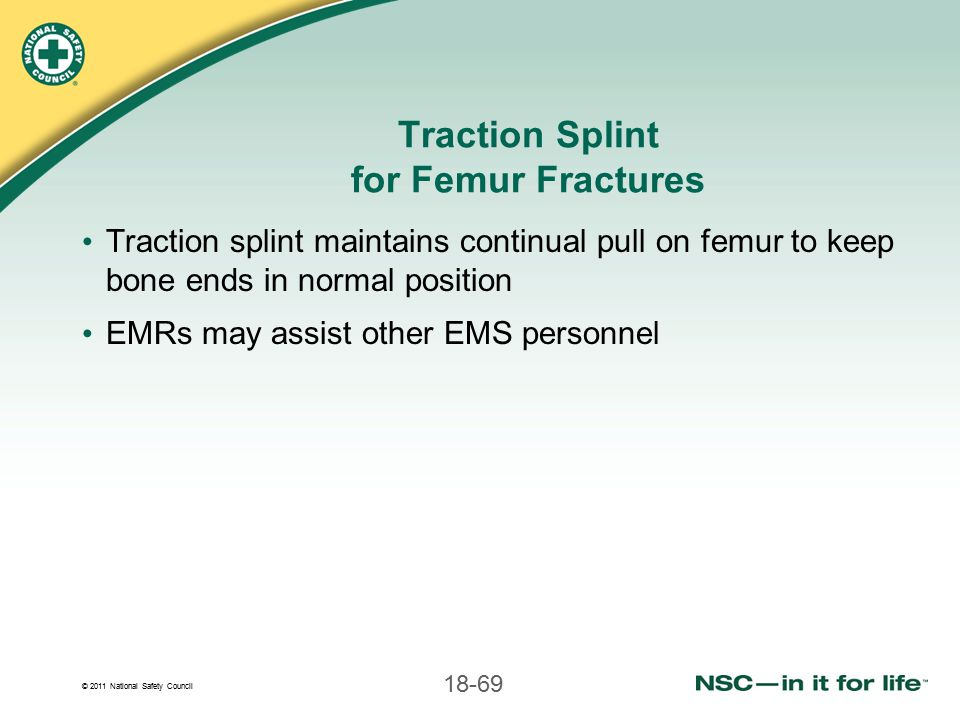 Traction Splint for Femur Fractures