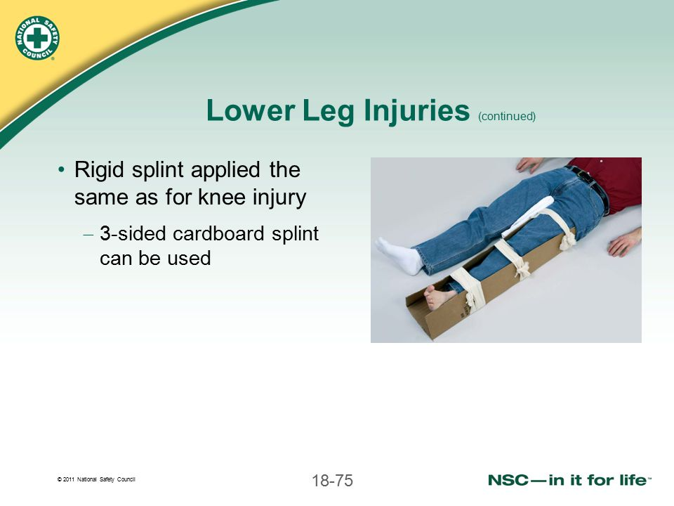 Lower Leg Injuries (continued)