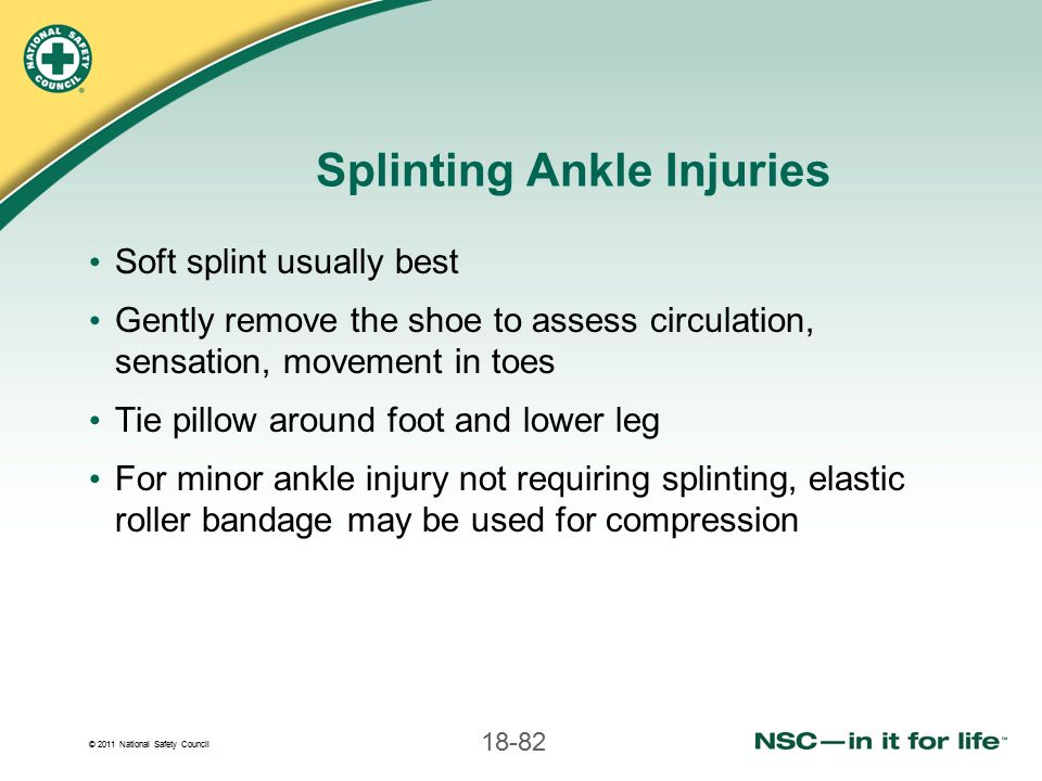 Splinting Ankle Injuries
