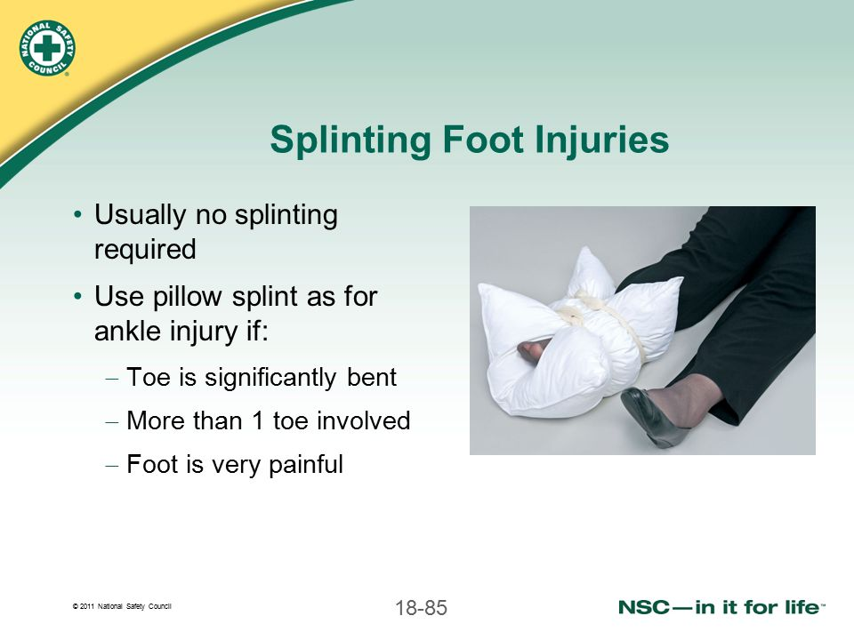 Splinting Foot Injuries