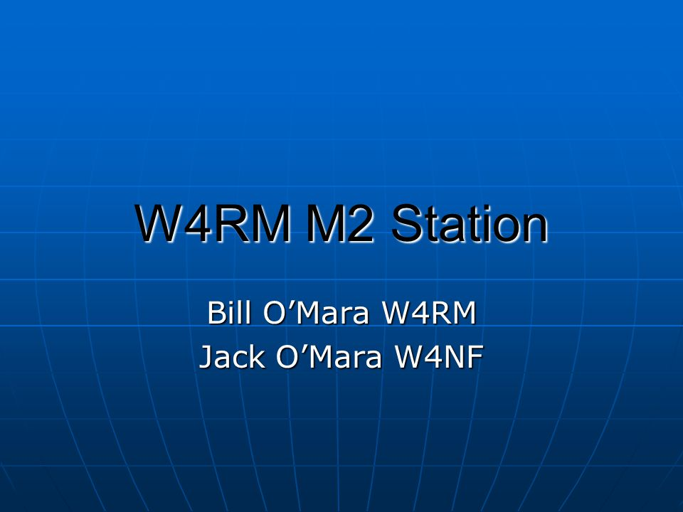 Bill O'Mara W4RM Jack O'Mara W4NF