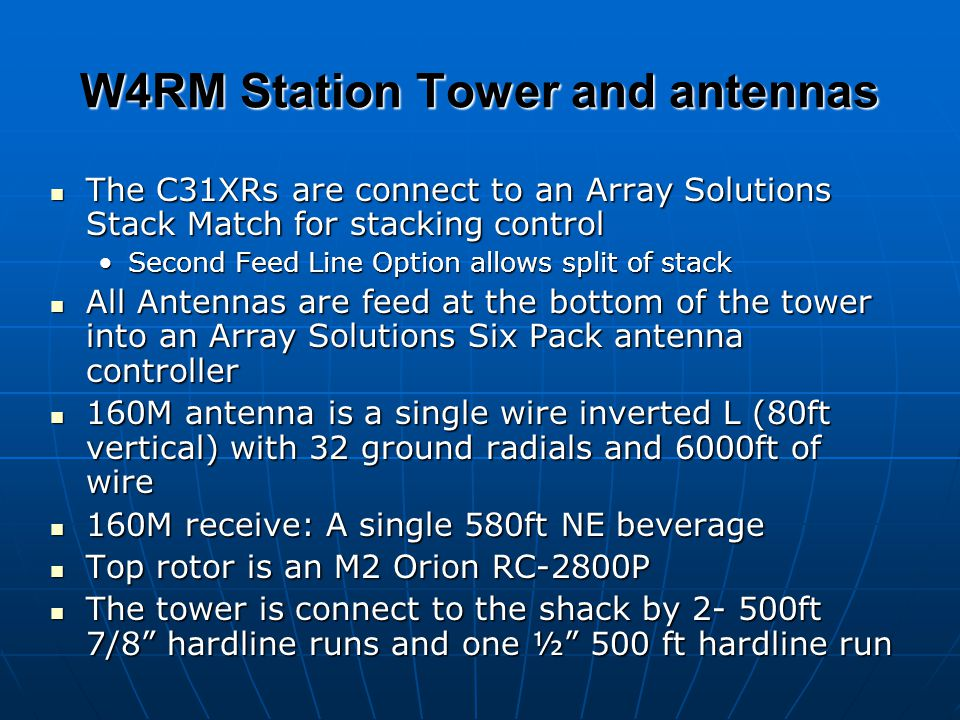 W4RM Station Tower and antennas