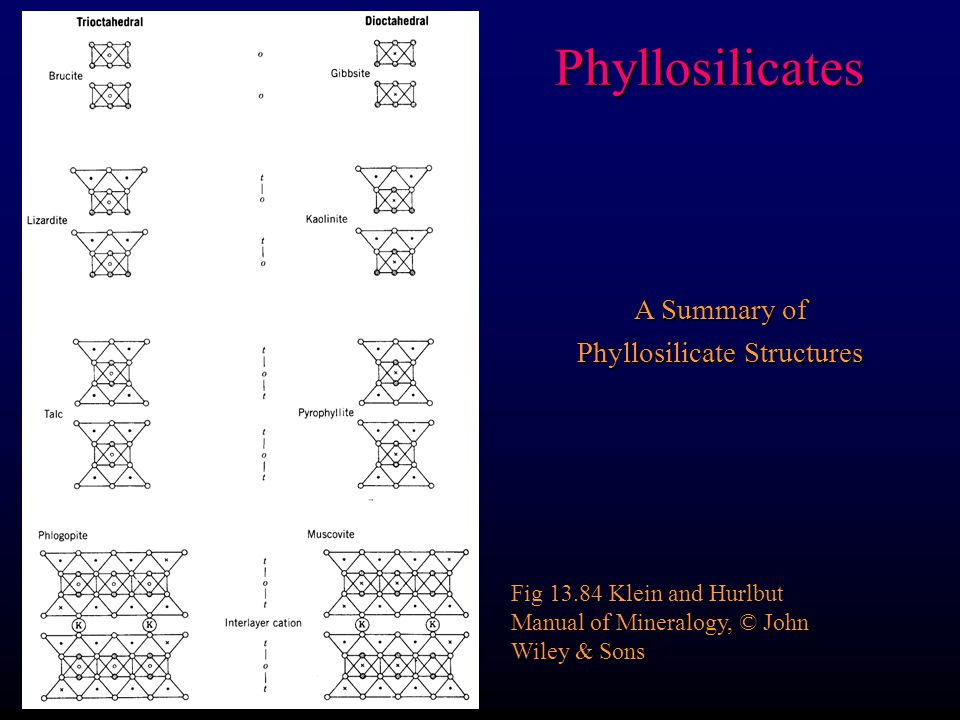 Phyllosilicate Structures