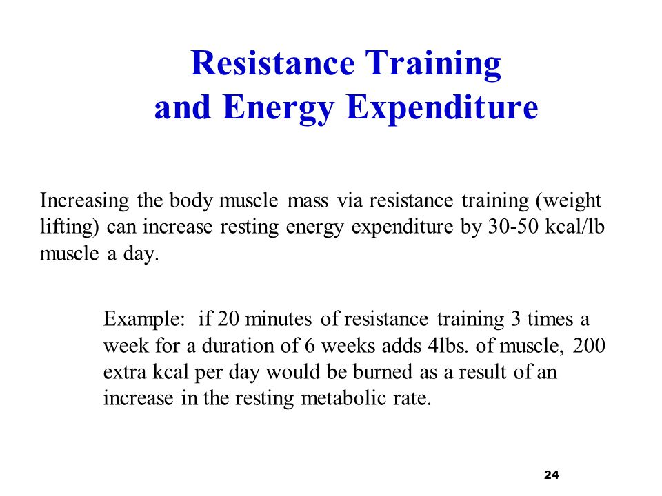 Resistance Training and Energy Expenditure