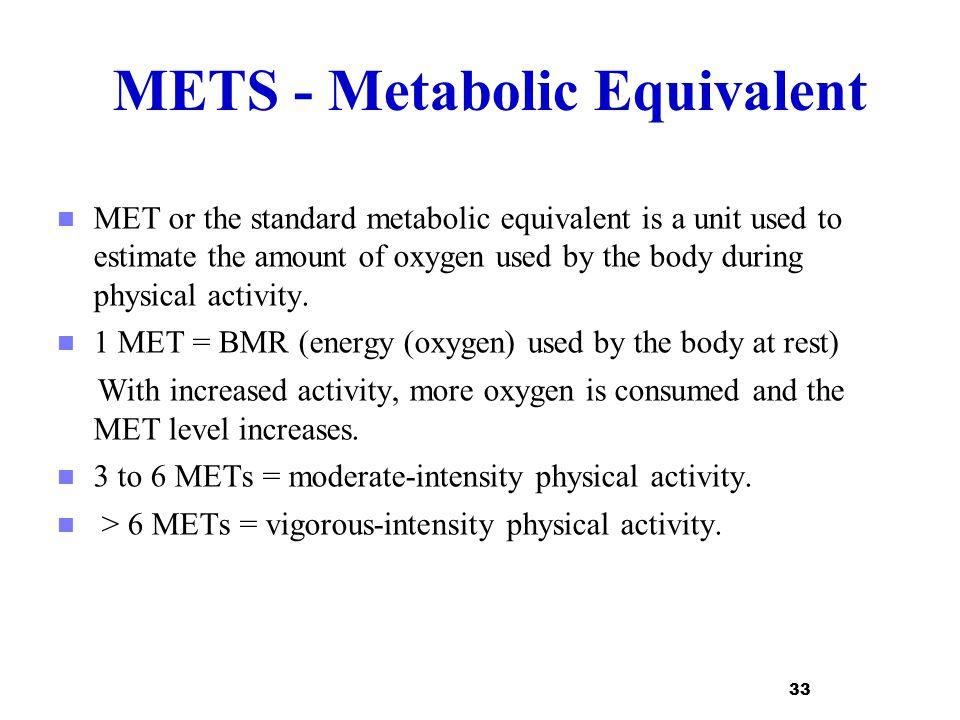 METS - Metabolic Equivalent