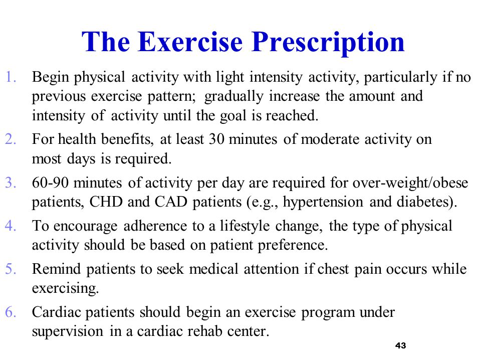 The Exercise Prescription
