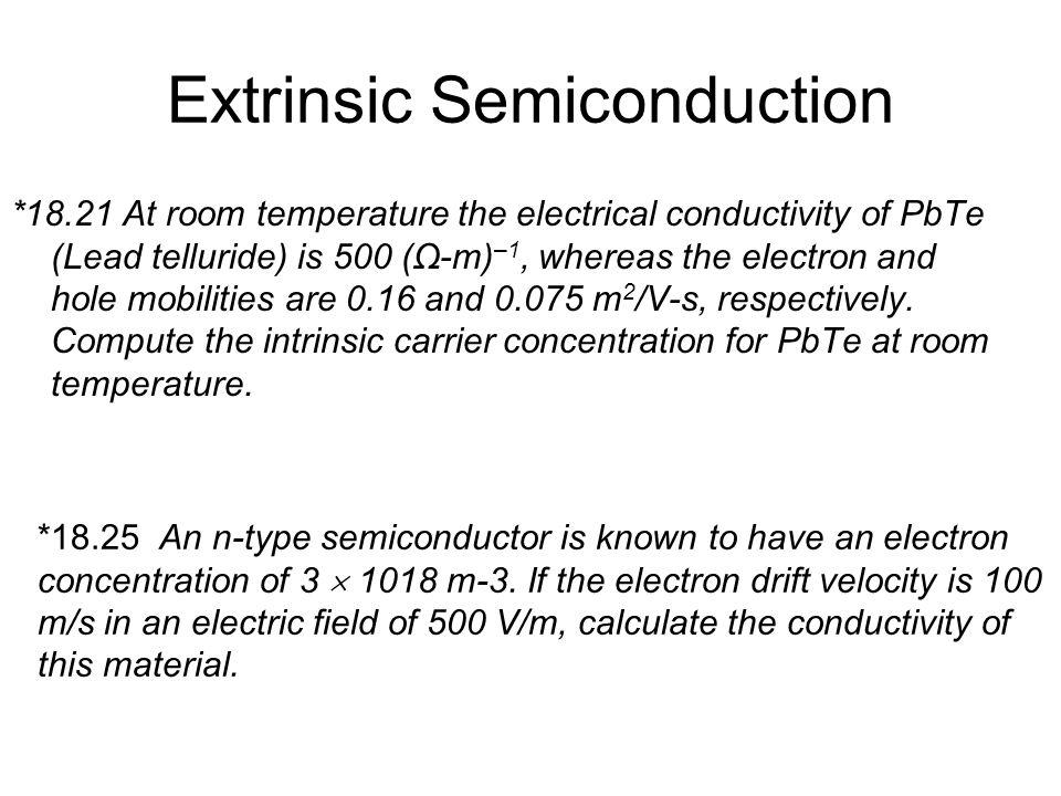 Extrinsic Semiconduction