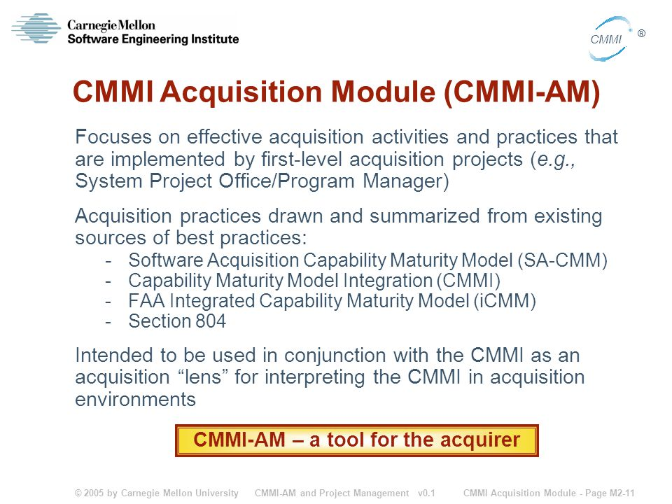 CMMI Acquisition Module (CMMI-AM)