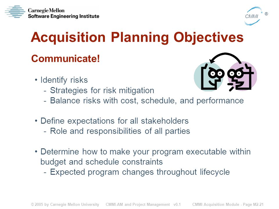 Acquisition Planning Objectives