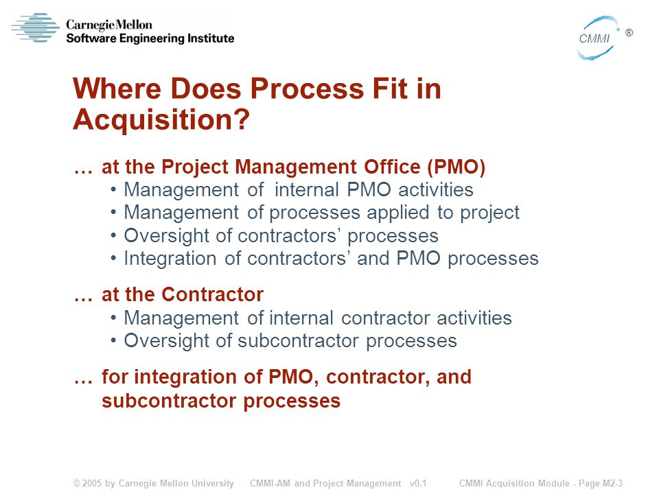 Where Does Process Fit in Acquisition
