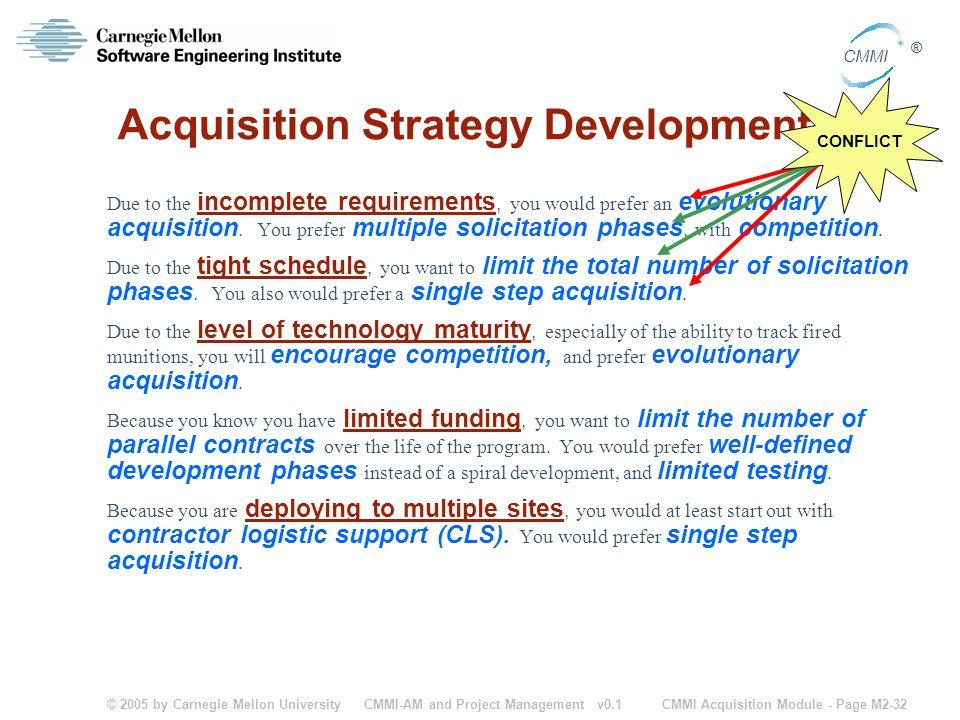 Acquisition Strategy Development