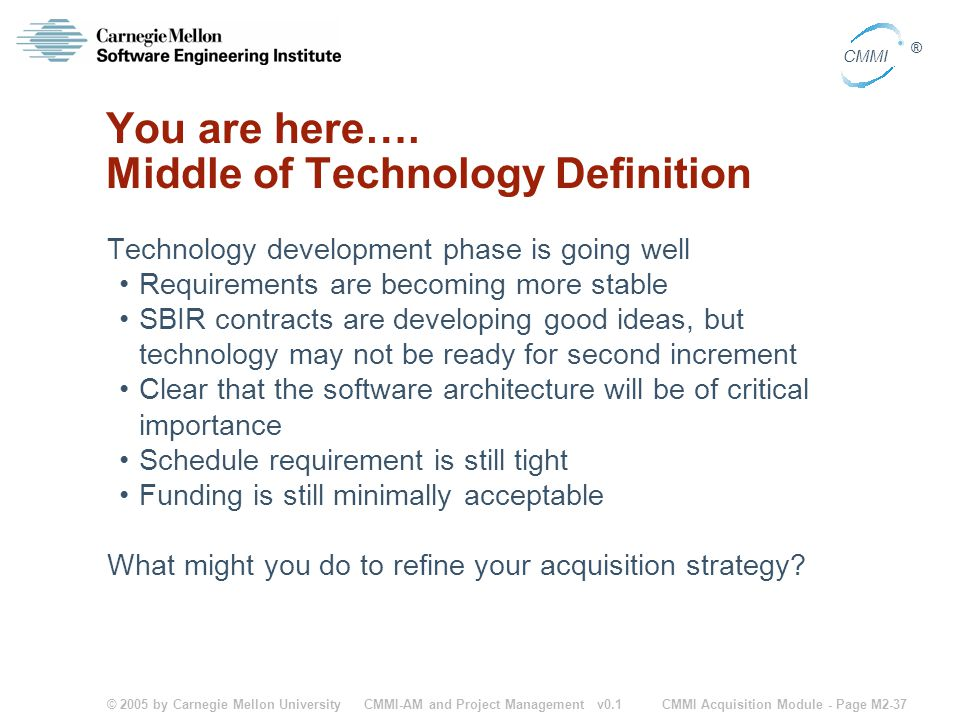 You are here…. Middle of Technology Definition