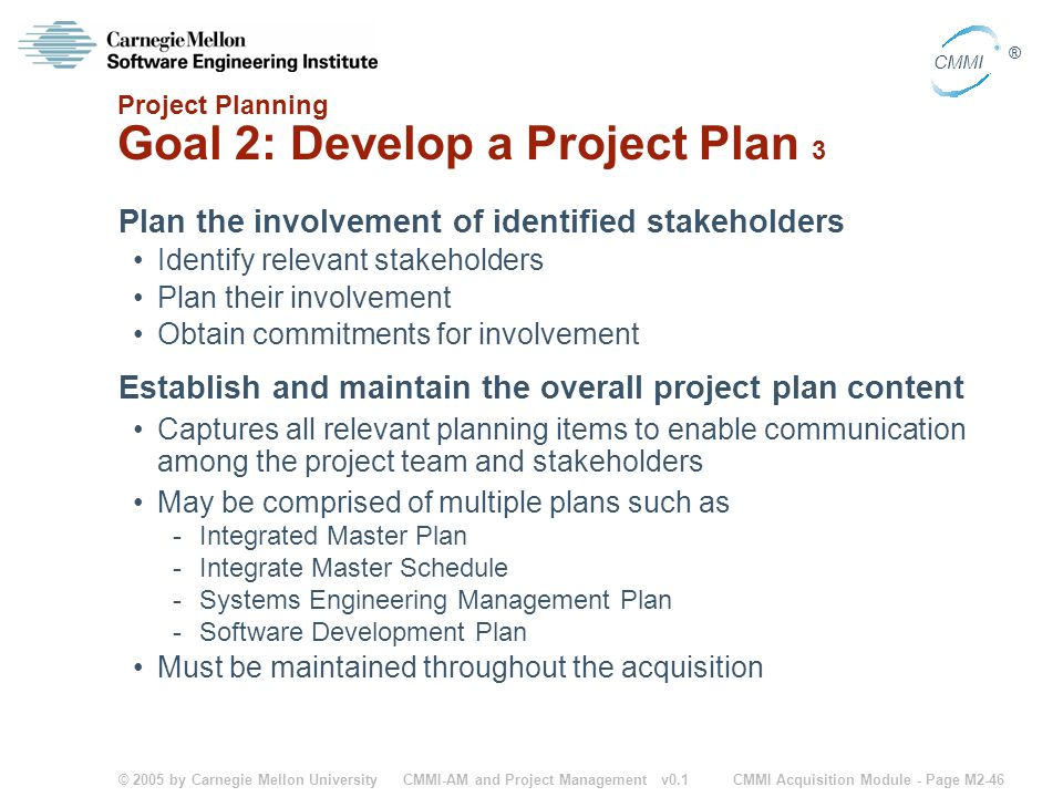 Project Planning Goal 2: Develop a Project Plan 3