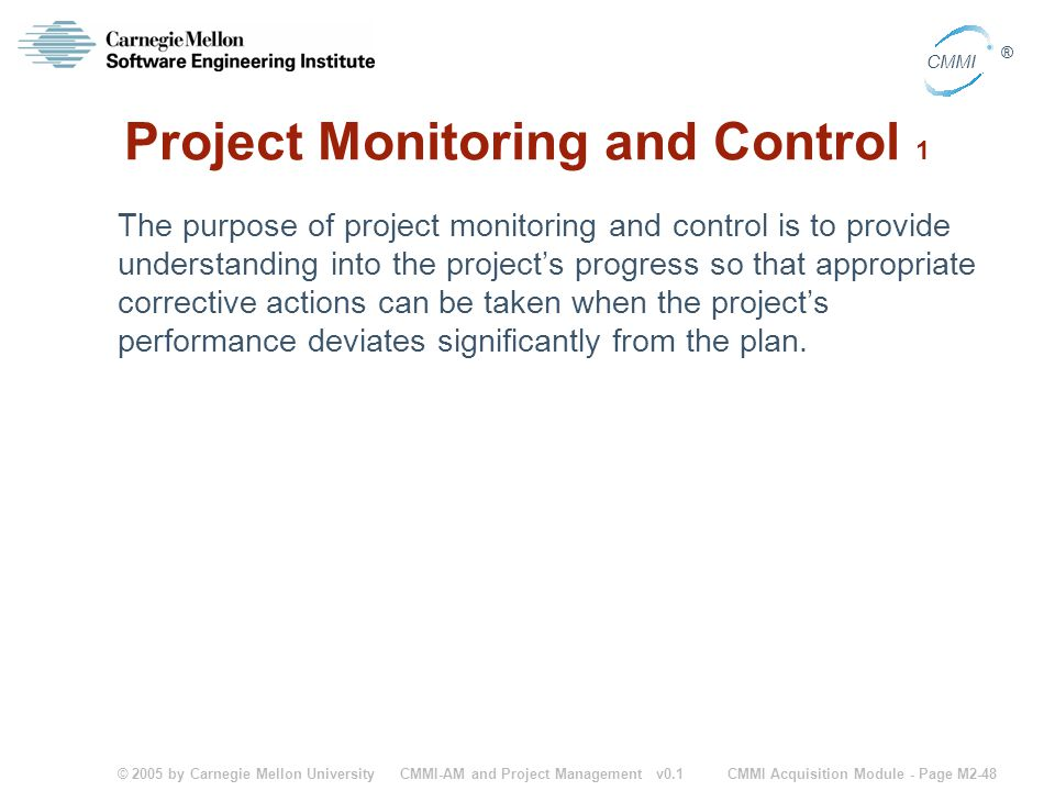 Project Monitoring and Control 1