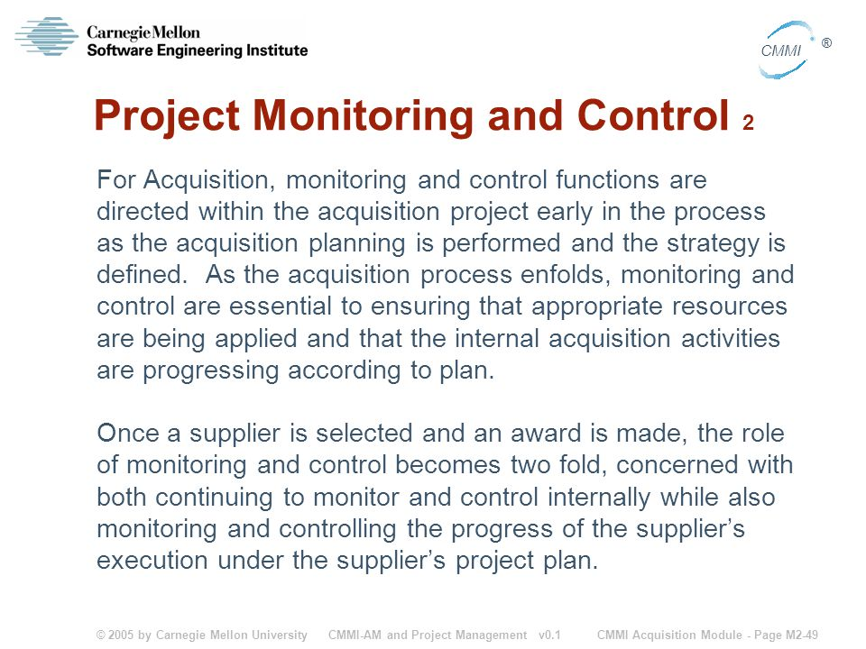 Project Monitoring and Control 2