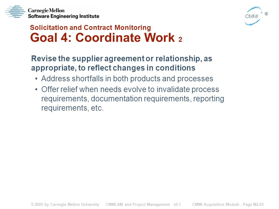 Solicitation and Contract Monitoring Goal 4: Coordinate Work 2