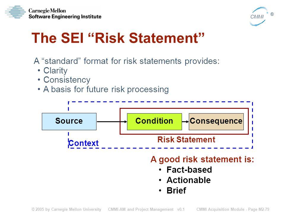 The SEI Risk Statement