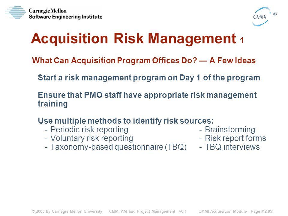 Acquisition Risk Management 1