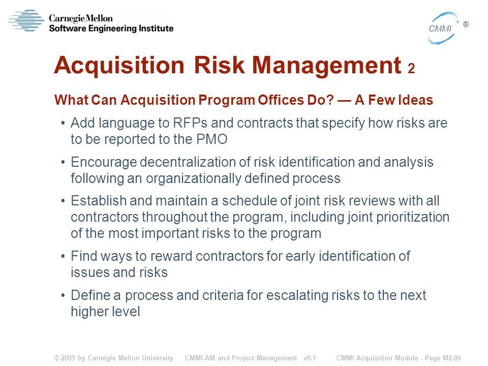 Acquisition Risk Management 2