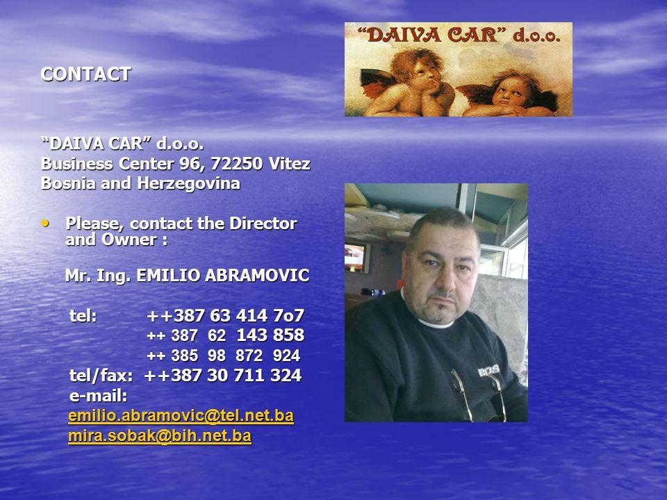 CONTACT Business Center 96, 72250 Vitez Bosnia and Herzegovina
