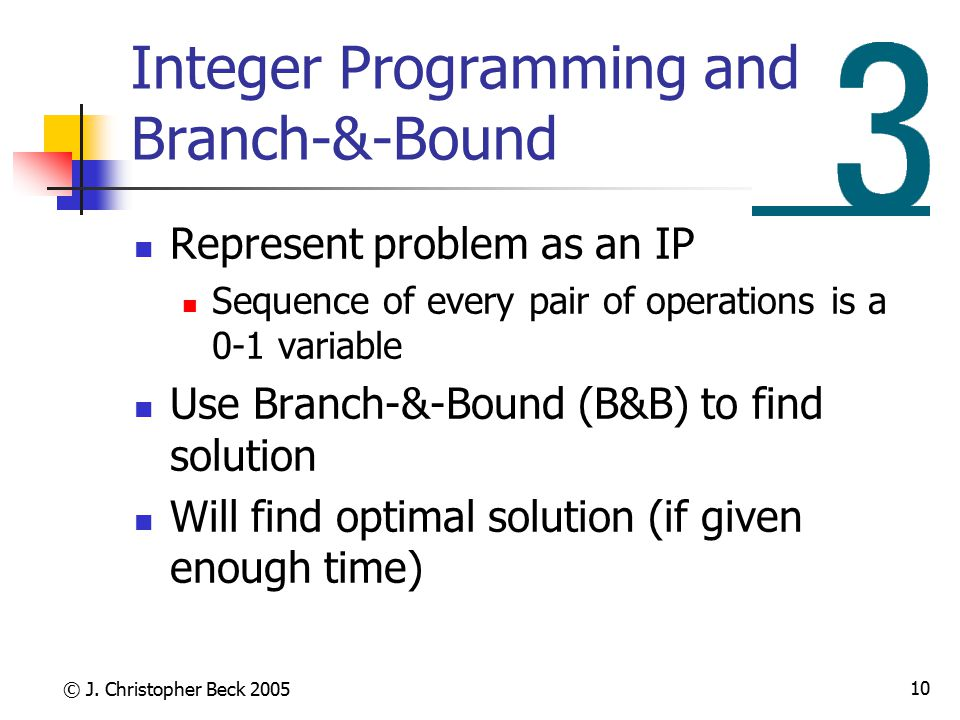 Integer Programming and Branch-&-Bound