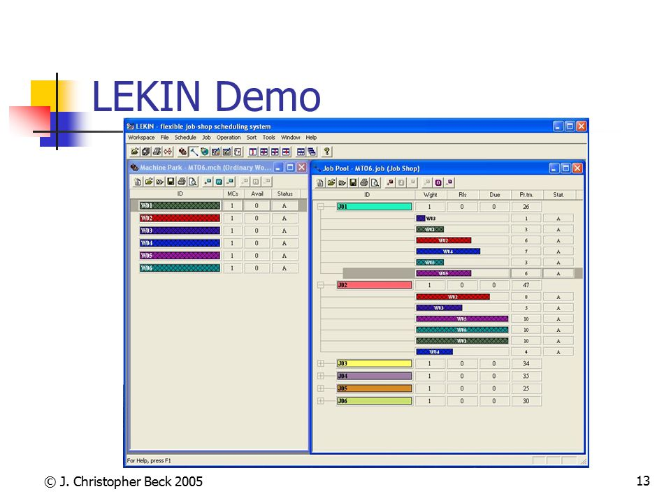 LEKIN Demo © J. Christopher Beck 2005