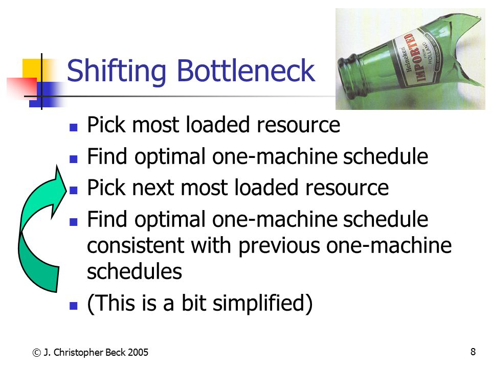 Shifting Bottleneck Pick most loaded resource