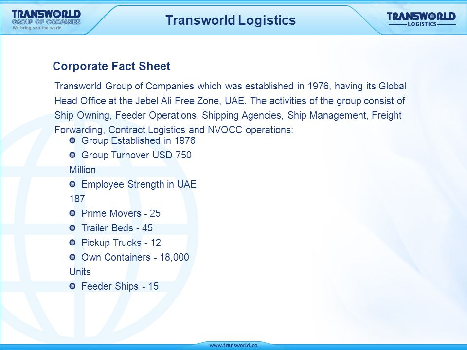 logistics in fact The logistics and transportation industry in the united states is highly competitive by investing in this sector, multinational firms position themselves to better facilitate the flow of goods throughout the world's largest consumer market.