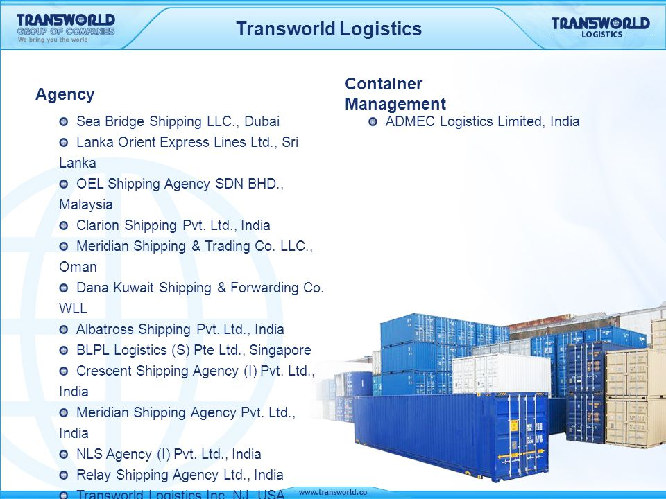 Transworld Logistics Container Management Agency