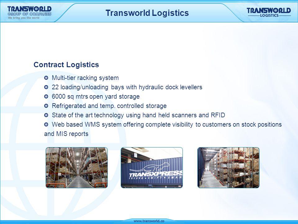Transworld Logistics Contract Logistics Multi-tier racking system