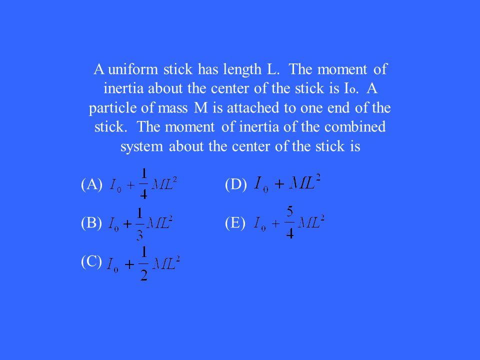 A uniform stick has length L