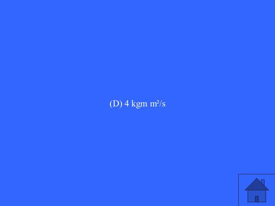 (D) 4 kgm m²/s