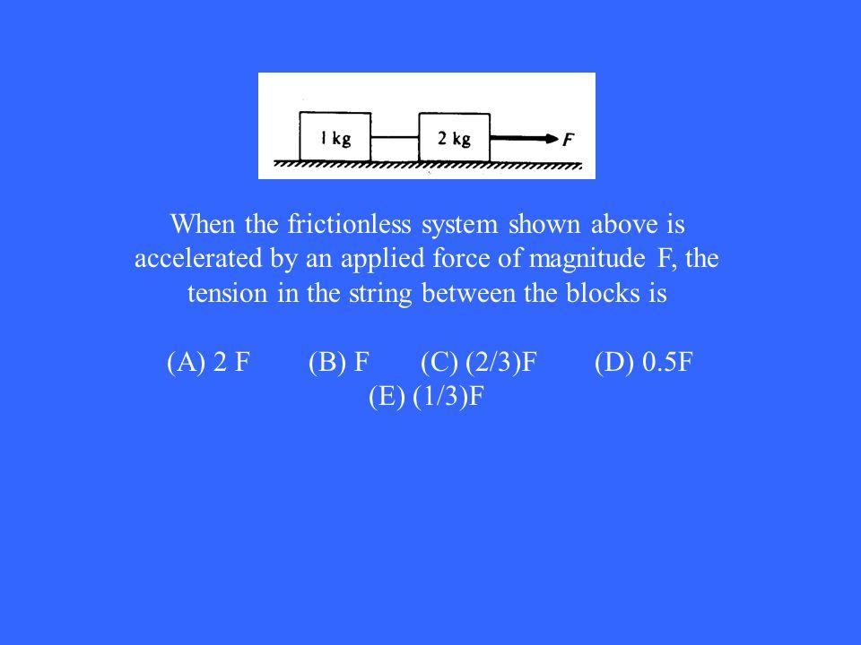 (A) 2 F (B) F (C) (2/3)F (D) 0.5F (E) (1/3)F