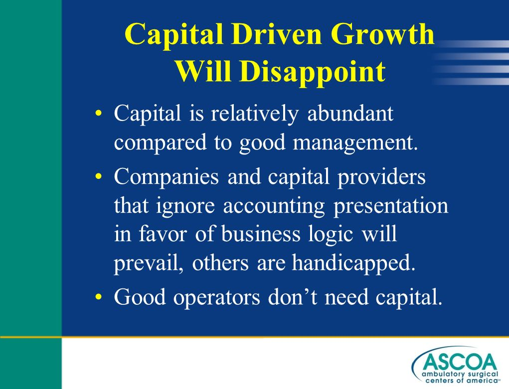 Capital Driven Growth Will Disappoint