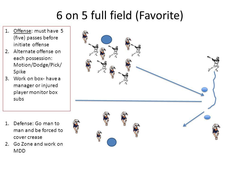 6 on 5 full field (Favorite)
